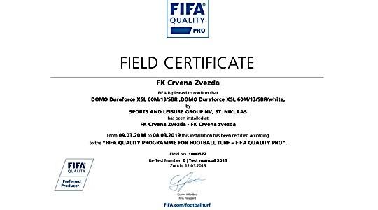 ФИФА сертификат за помоћне терене