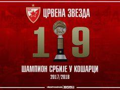 Црвена звезда је шампион Србије
